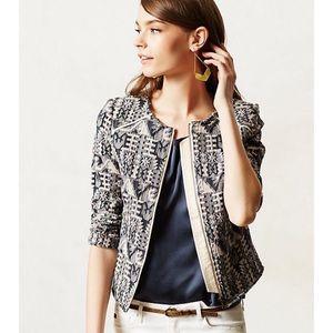 Anthropologie Hei Hei Textured Tweed Jacket Blazer